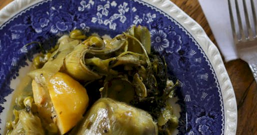 artichokes with broad beans