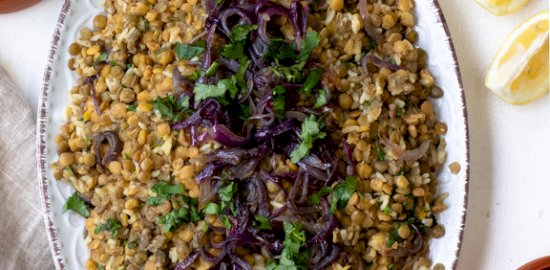 Moutzentra Cypriot lentils with rice