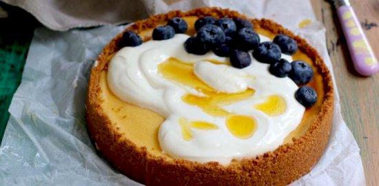 honey and yoghurt tart