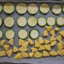 Zucchini and potato scrambled eggs - Kolokouthkia kai patates me ta avga